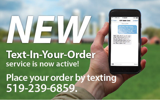 The new Text-In-Your-Order option is now available!